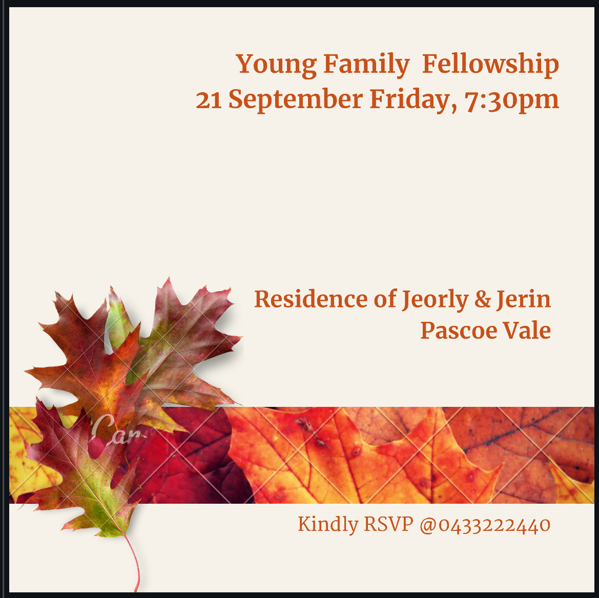Young Families Fellowship Meeting