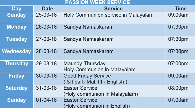 Passion Week Service